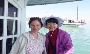 simone-and-friend-onboard-halong-bay